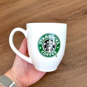 Classic Starbucks Logo White 16 oz Mug